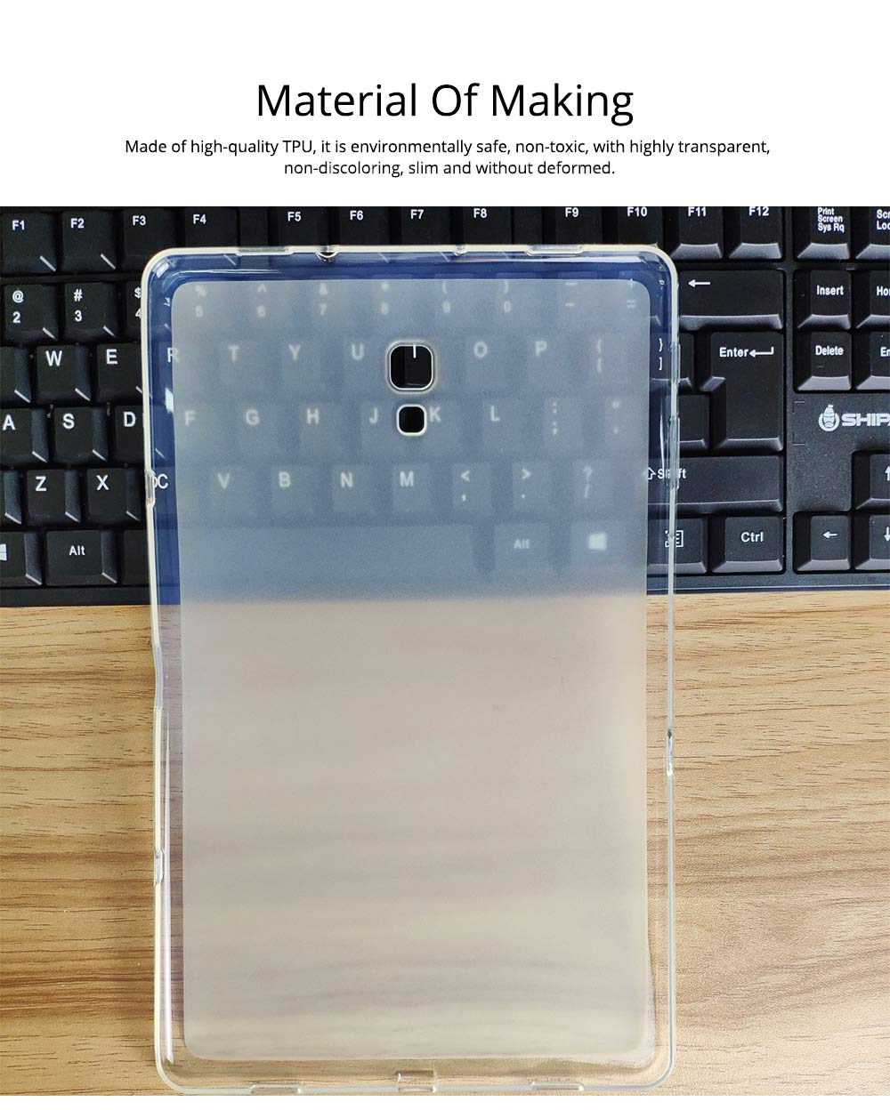 Transparent Waterproof Tempered Glass TPU Back Phone Case For Samsung T590 TPU Mobile Phone Case Protective Cover 1
