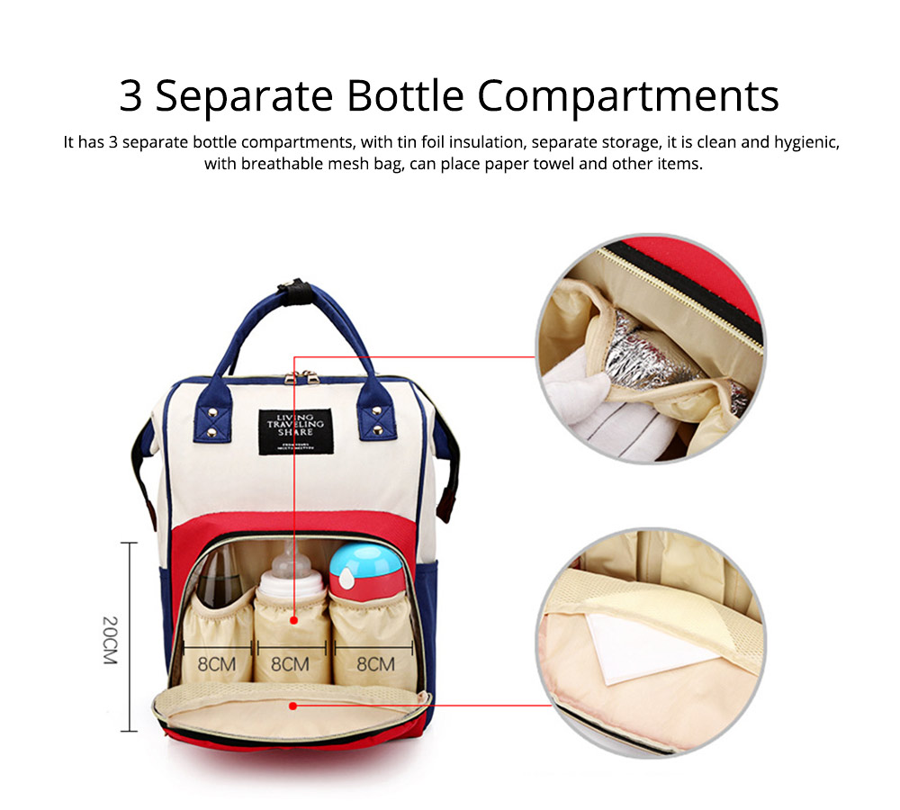 Large Capacity Multi Function Waterproof Travel Nappy Backpack Baby Maternity Diaper Mommy Bag For Outdoor Nursing 2