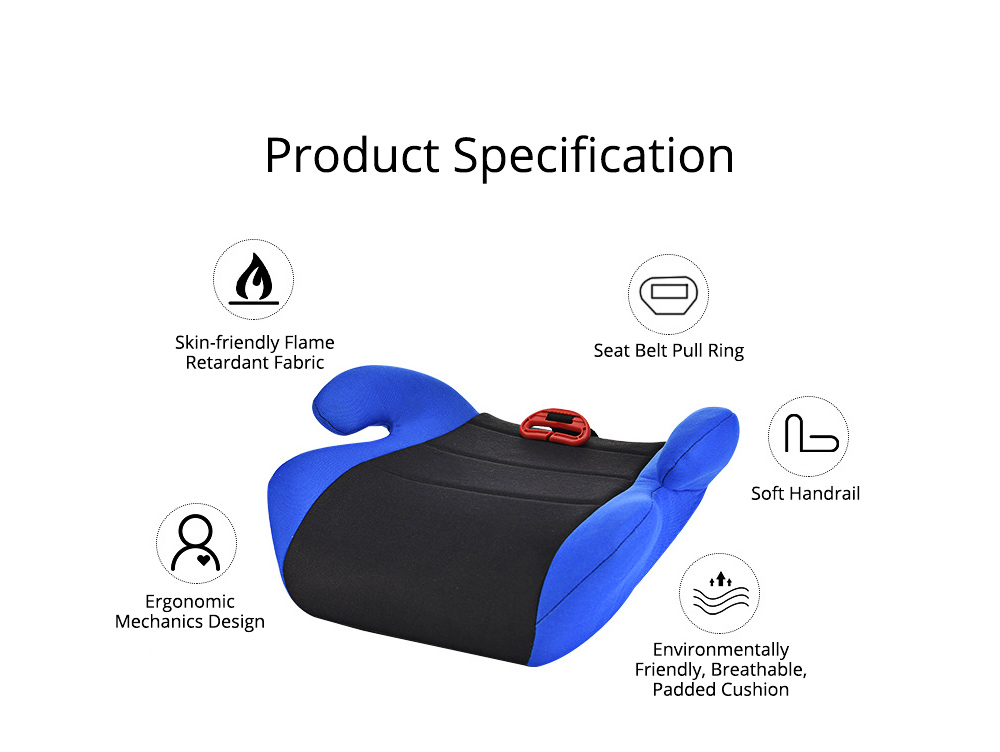 Infant Car Safety Seats Booster Children Heighten Pad for 3-12 Years Kids Safety Products Suit With ECE Certificate 10