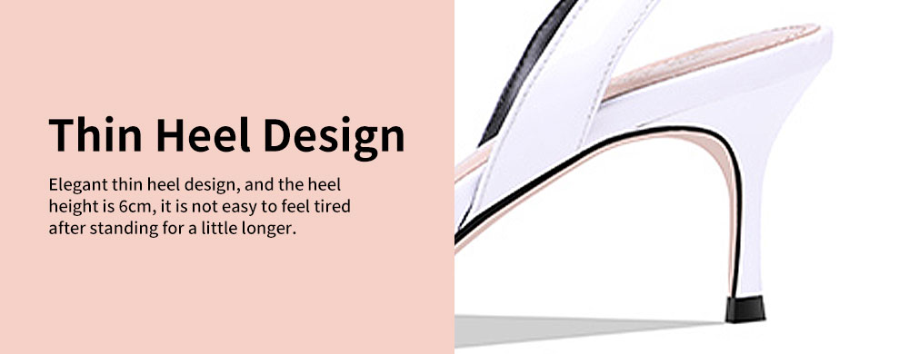 Women's Sandals Leather High Thin Heels All-matched Fashion Ankle Strap Tip Binding Shoes Summer New 4