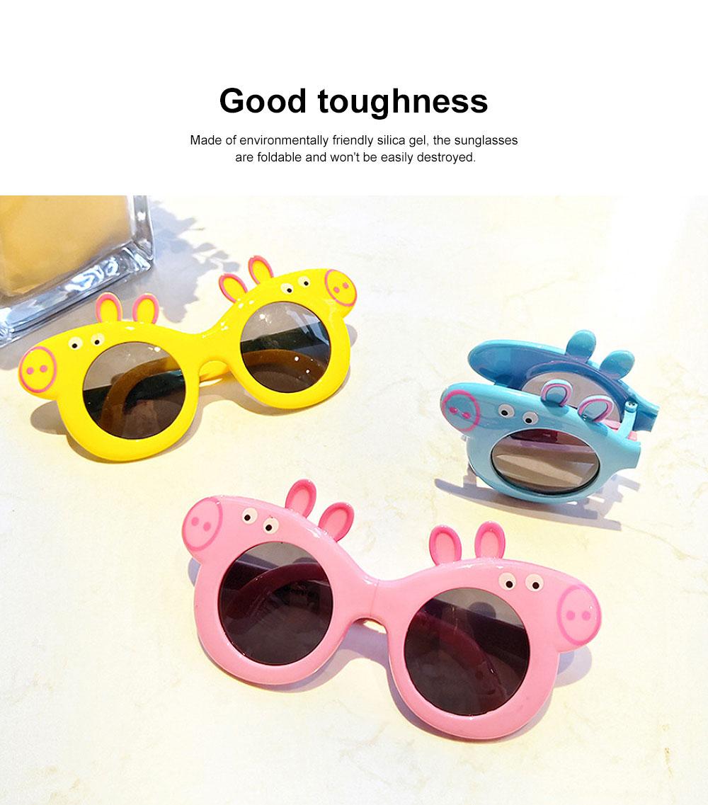 Foldable Piggy-style Children's Sunglasses High-end Upgrade Sunglasses Gift Box for Girls Boys Polarized UV400 Children's Sun Glasses 1