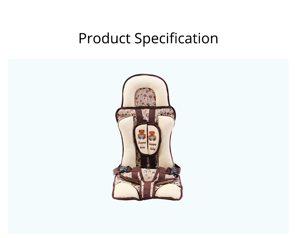 Baby Seat Child Safety Seat For Car Portable Head Support Car Seat For 9-36kgs 0-12 Year Baby Fixing With Anti-slip Mat 6