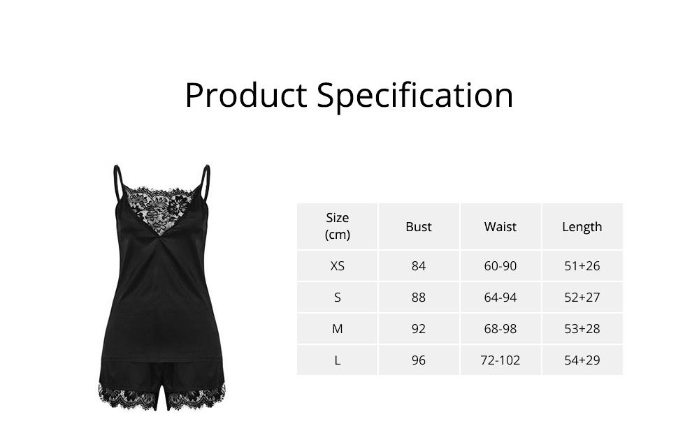 Hot Women Sleepwear Sets Sleeveless Strap Lace Trim Satin Top Nightwear Sexy Summer Home Wear Sleep Wear 6