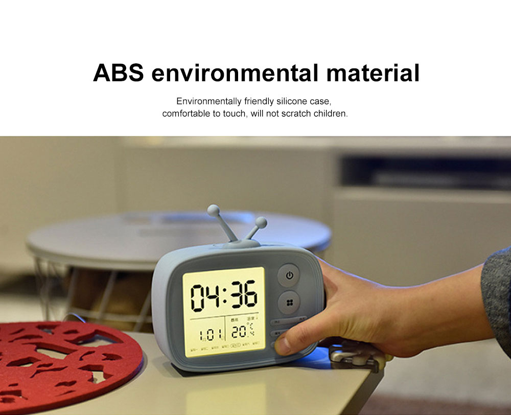 Retro TV Modeling Alarm Clock, Creative Cartoon Voice Charging Electronic Clock for Student Dormitories, Night-light Children's Bedside Alarm Clock 6