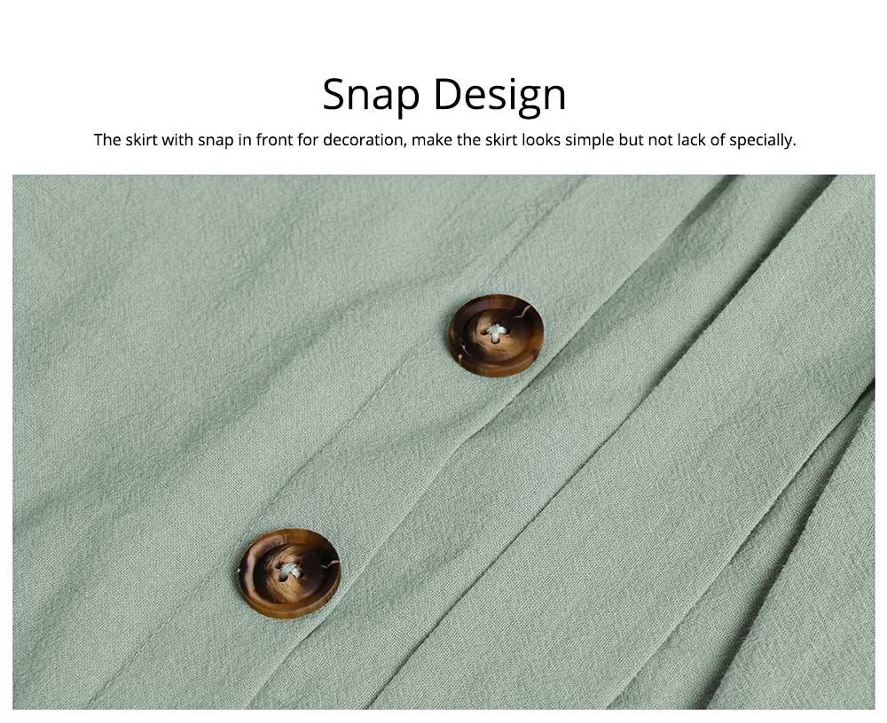 Romantic Off Shoulder Flounce Ruffle Striped Waist Summer Casual Wrap Dress Snap In Front Short Skirt For Women 4