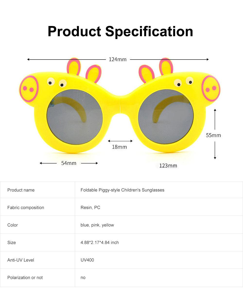 Foldable Piggy-style Children's Sunglasses High-end Upgrade Sunglasses Gift Box for Girls Boys Polarized UV400 Children's Sun Glasses 6