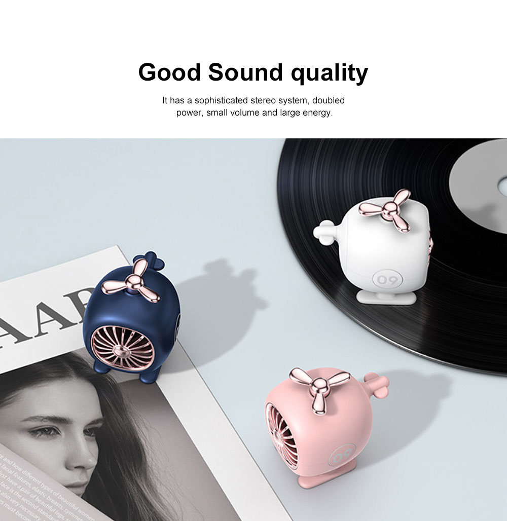 New Multi-functional Aircraft Modeling Bluetooth Audio, Mini Wireless Portable Creative Audio, Individualized BT 5.0 Speaker Hands Free Call Knob Wireless Control 2