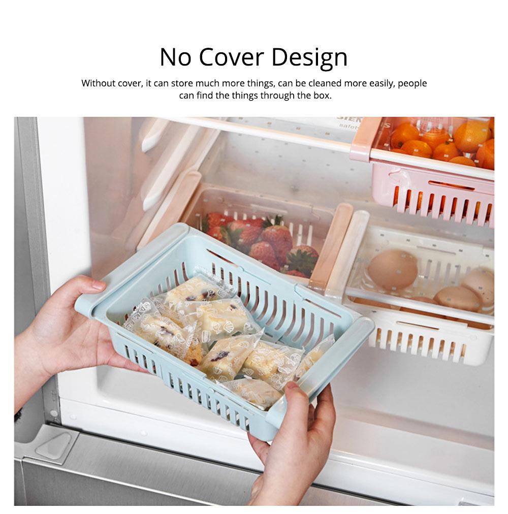 Household Daily Use PP Drawer Fridge Box Refrigerator Storage Lock Vegetable Fruit Asphalt Shelf 1