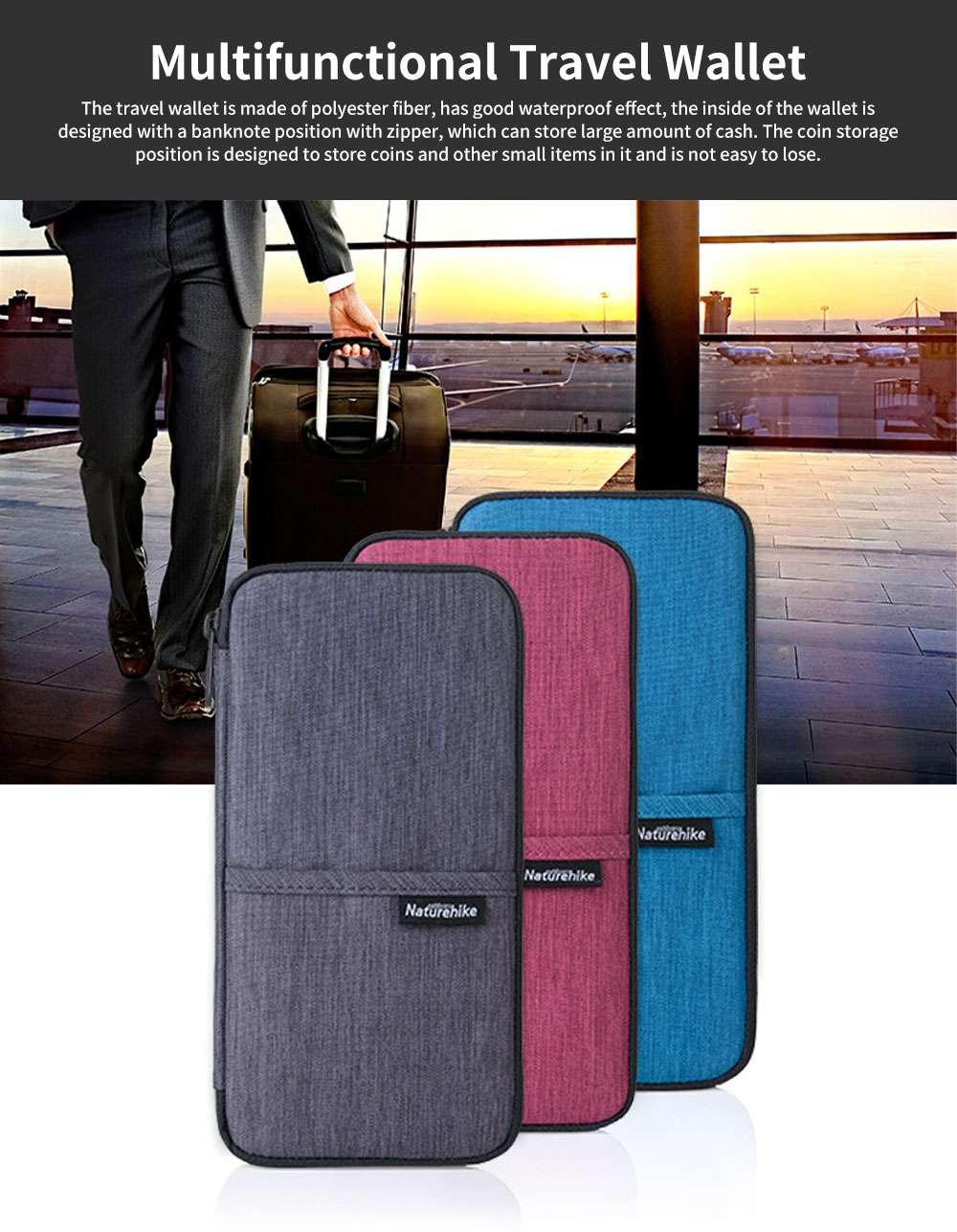 NH Travel Wallet Multifunctional Storage Bag Waterproof Documents Cash Change Passports Zipper Simple Card Holder 0