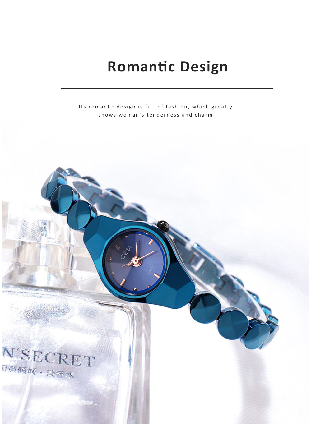 Shiny Hand Watch Bracelet with High Quality Dial Tungsten Steel Fashionable Quartz Wrist Watch for Ladies 5