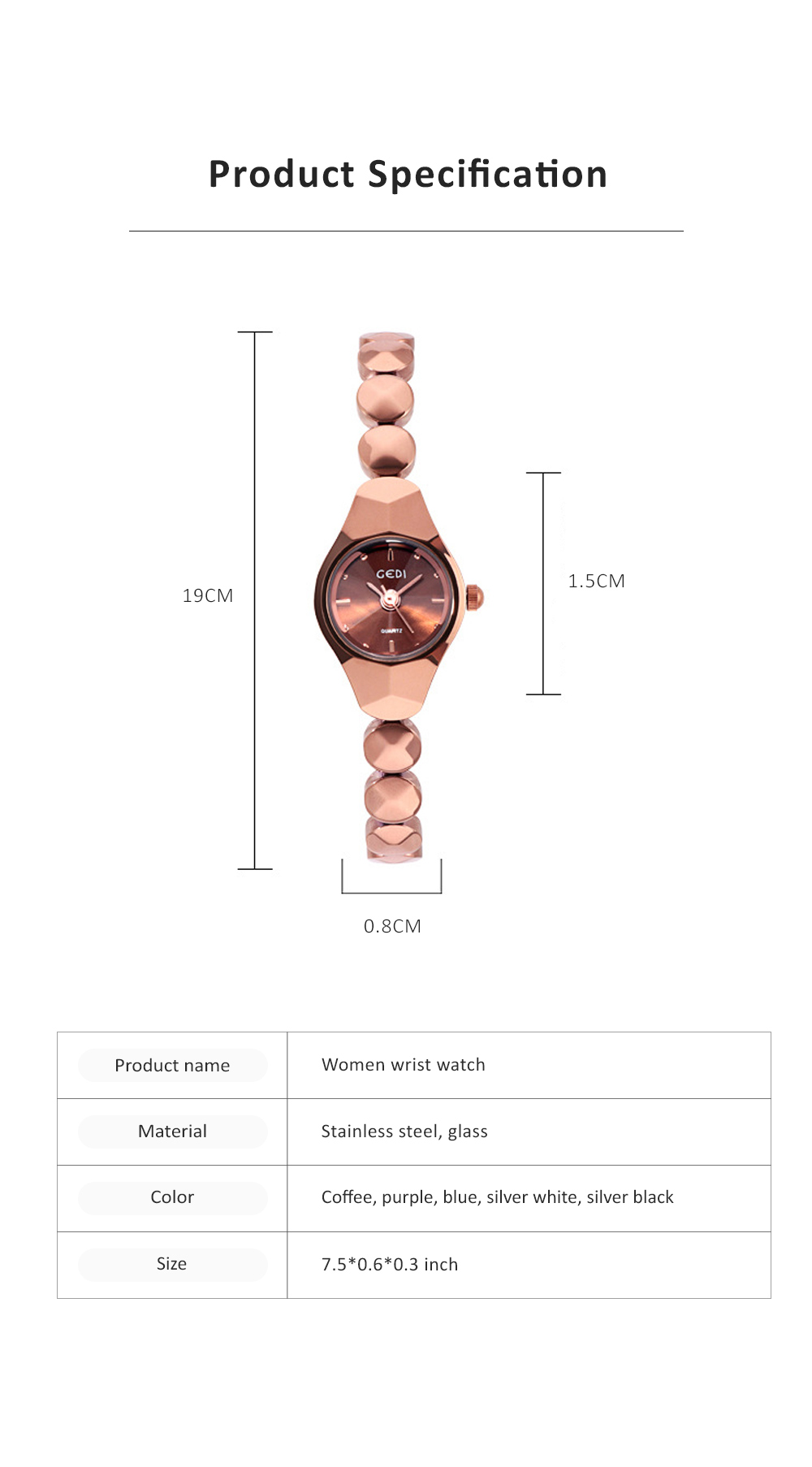 Shiny Hand Watch Bracelet with High Quality Dial Tungsten Steel Fashionable Quartz Wrist Watch for Ladies 6