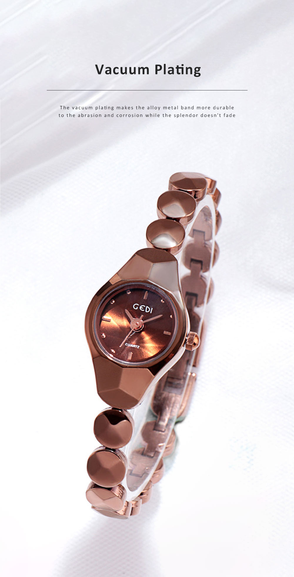 Shiny Hand Watch Bracelet with High Quality Dial Tungsten Steel Fashionable Quartz Wrist Watch for Ladies 4