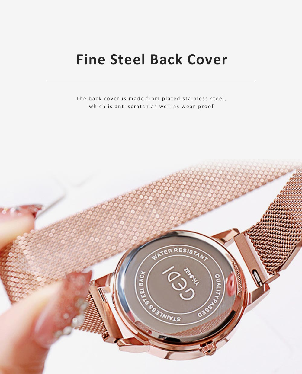 Trendy Bee Pattern Quartz Watch with Stainless Steel Mesh Band Elegant Style for Women 2