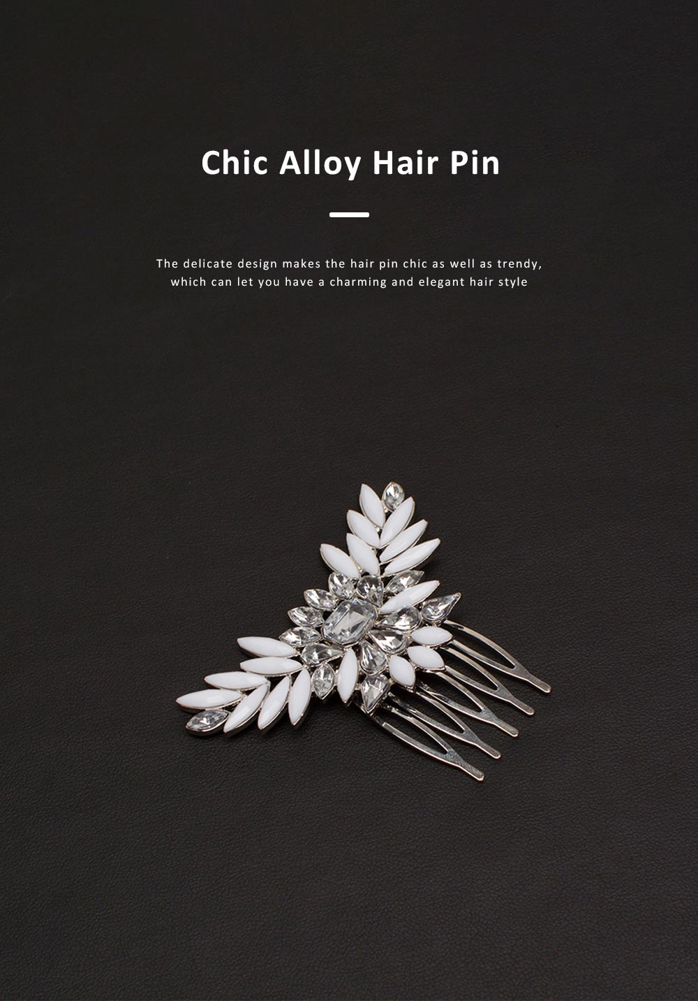 Chic Diamond Alloy Hair Clip Stylish Hair Pin for Women Girls Suitable for Different Hair Styles 4