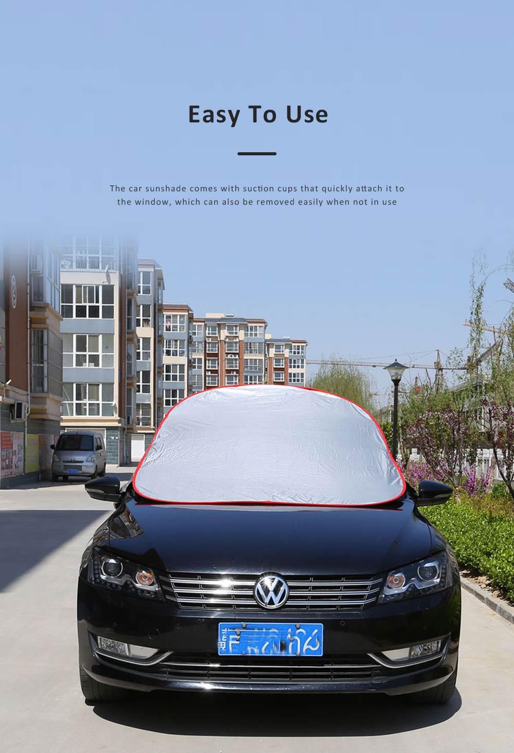 Universal Car Sunshade UV Ray Protector Cooler Umbrella Fabric Sunshade for Cars 4