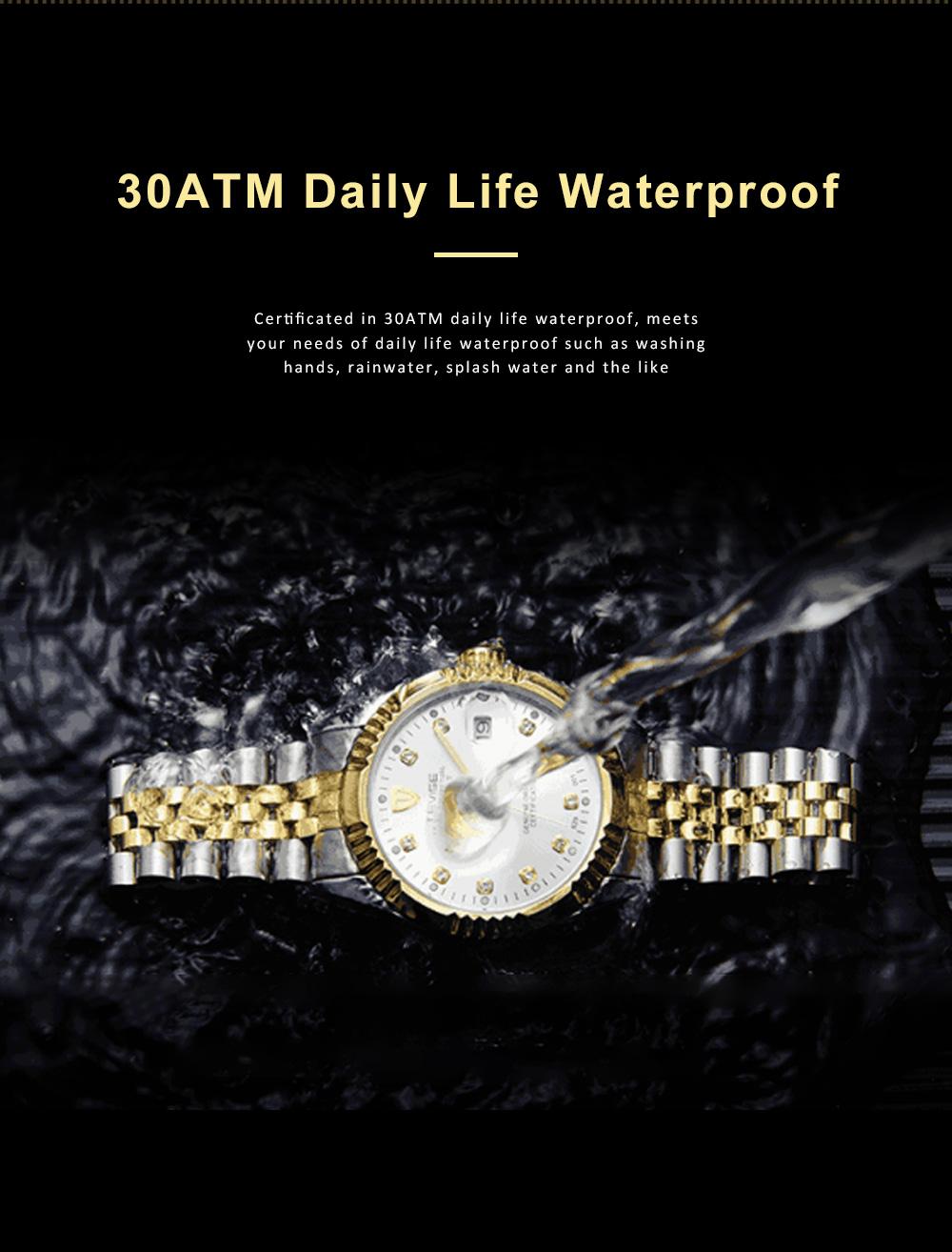 Waterproof Businessman Mechanical Watch with Calendar All Automatic Mechanical Men's Wrist Watch 2019 6