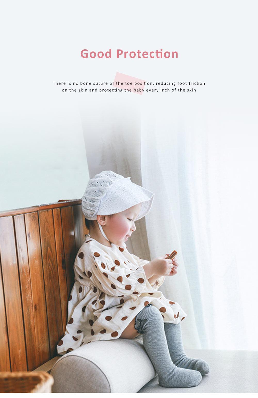 Korean Style Knee High Socks Cute Bowknot Cotton Knit Dress Socks Ruffled Shape Baby Stocking for Girls 4