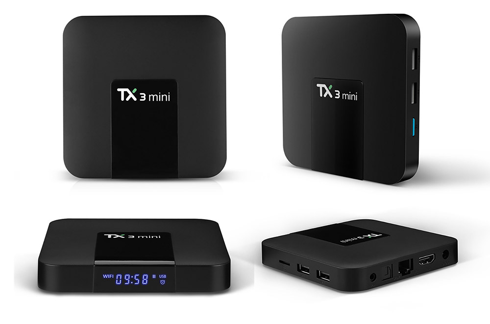 TX3 Mini S905W Android TV Box Smart IPTV Media Player 4K 7.1 Android H2.65 TX3 Mini TV Box 2G 16GB 8