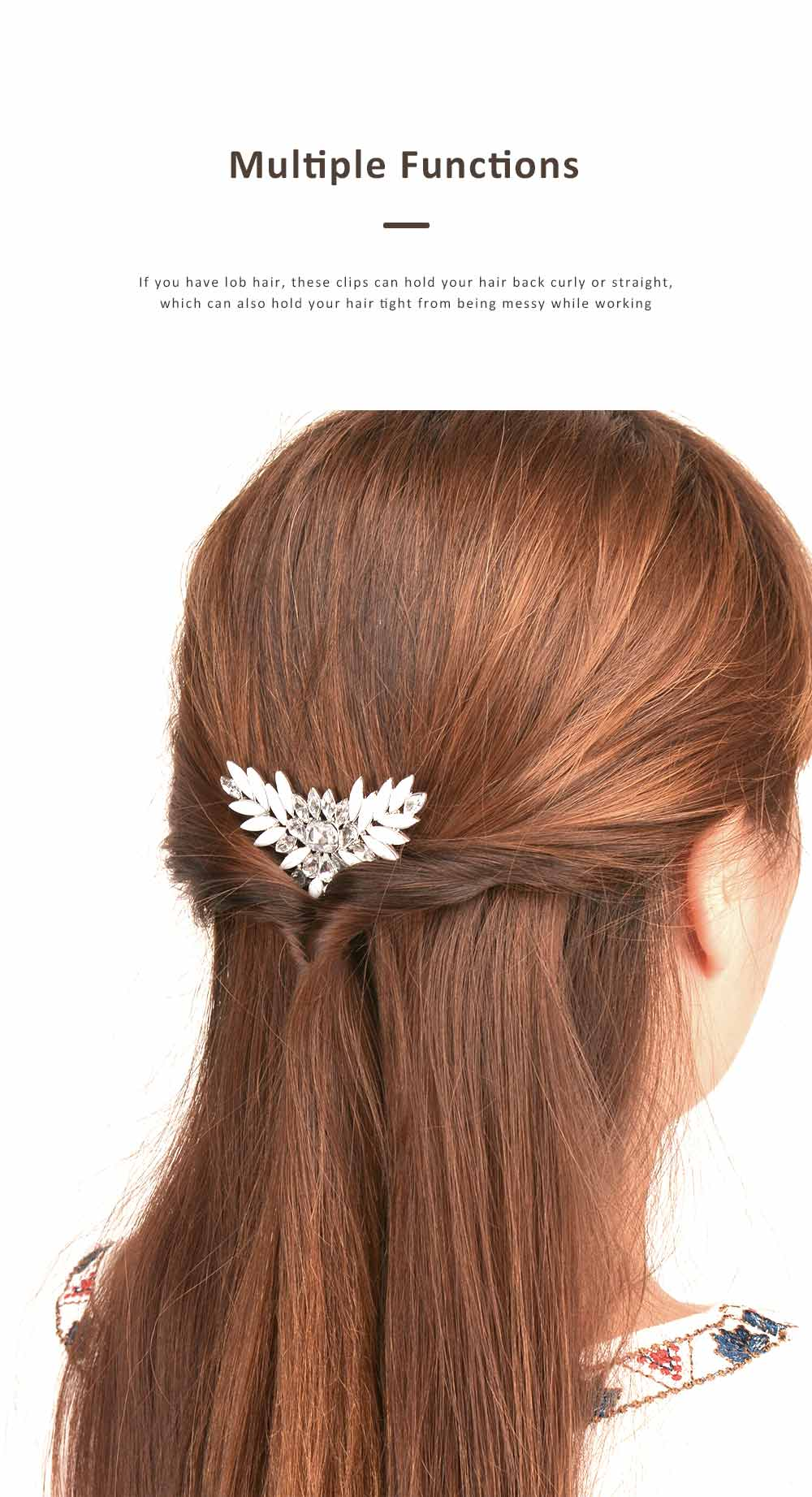 Chic Diamond Alloy Hair Clip Stylish Hair Pin for Women Girls Suitable for Different Hair Styles 5