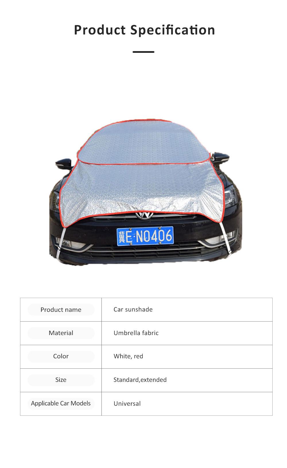 Universal Car Sunshade UV Ray Protector Cooler Umbrella Fabric Sunshade for Cars 6