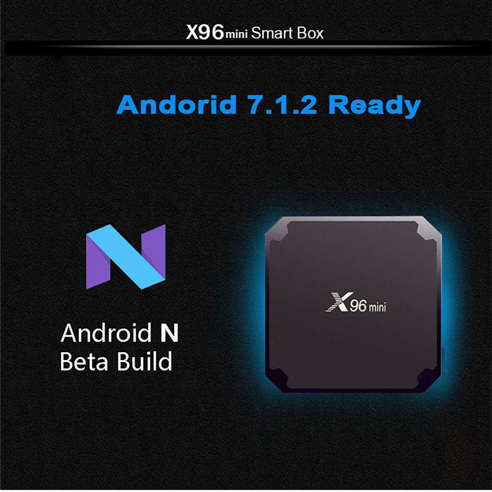 X96 Mini Android TV Box S905W Quad Core 2G 16G Smart Set Top Box 4K H.265 Media Player 7