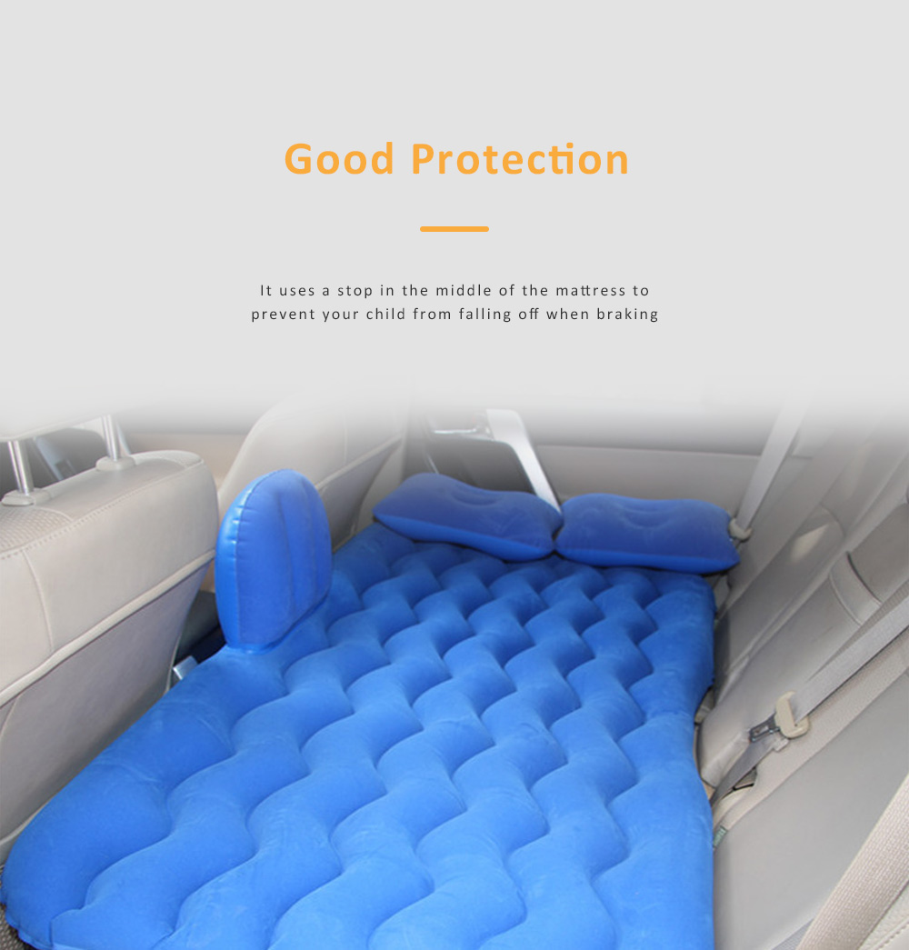 Upgraded Car Travel Inflatable Air Mattress Back Seat Portable Camping Bed Cushion with Back Support 6