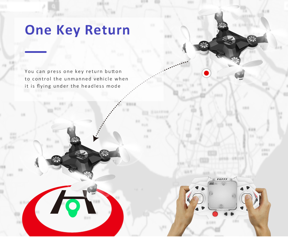 Unmanned Aerial Vehicle Mini Remote Control Foldable Quadcopter Portable 6 Axis Flying Toy 4