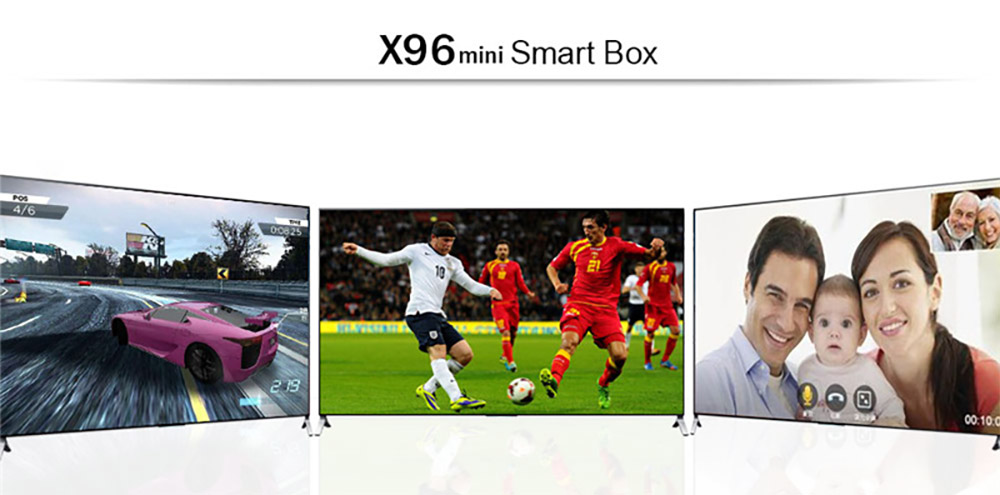 X96 Mini Android TV Box S905W Quad Core 2G 16G Smart Set Top Box 4K H.265 Media Player 0