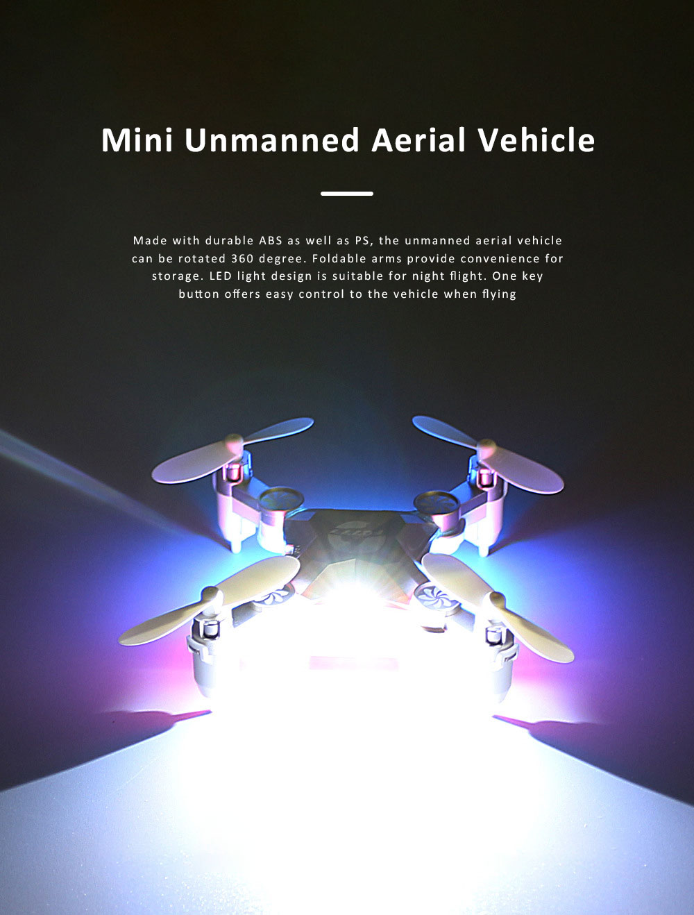 Unmanned Aerial Vehicle Mini Remote Control Foldable Quadcopter Portable 6 Axis Flying Toy 0