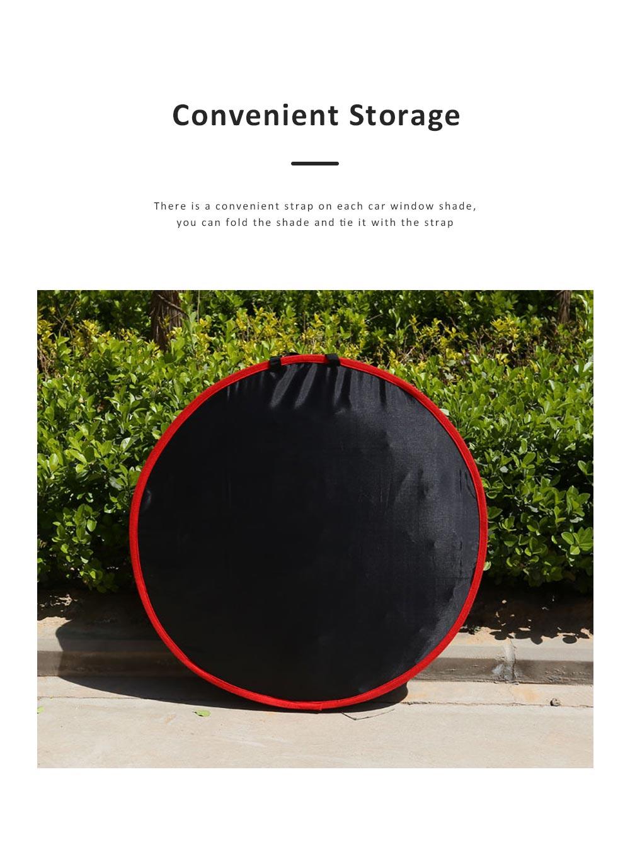 Universal Car Sunshade UV Ray Protector Cooler Umbrella Fabric Sunshade for Cars 5