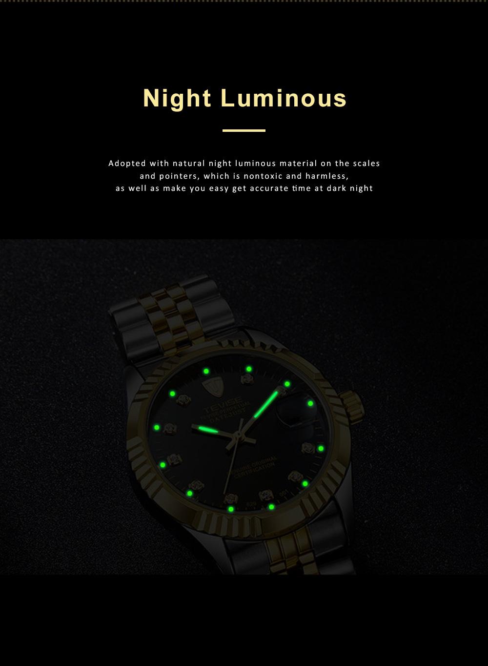 Waterproof Businessman Mechanical Watch with Calendar All Automatic Mechanical Men's Wrist Watch 2019 5