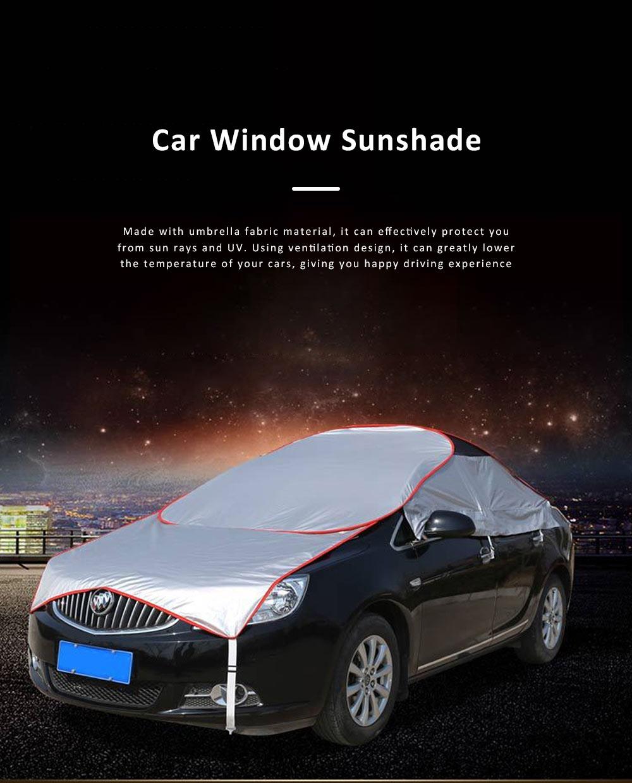 Universal Car Sunshade UV Ray Protector Cooler Umbrella Fabric Sunshade for Cars 0