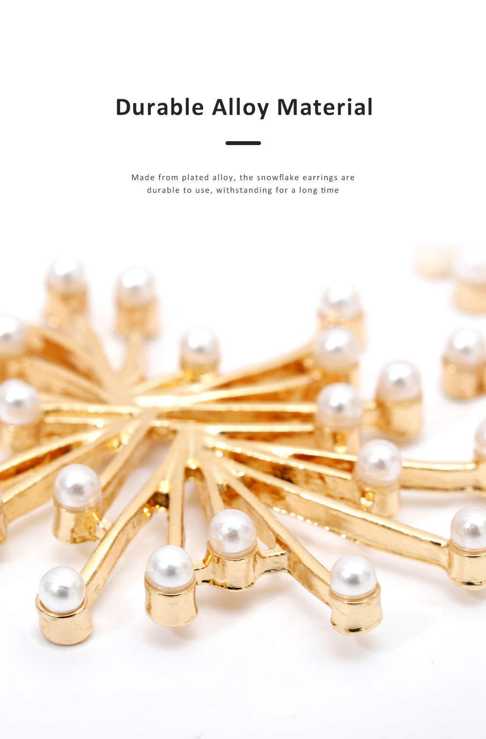 Trendy Alloy Snowflake Earrings Beautiful Ear Decoration Sparkling Stud Earring for Women Girls 4
