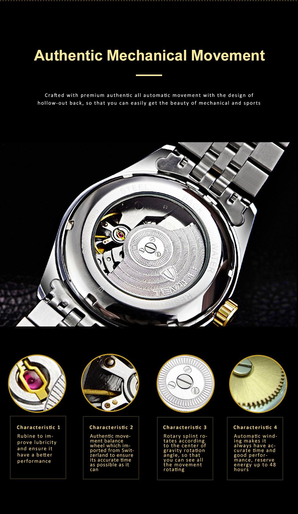 Waterproof Businessman Mechanical Watch with Calendar All Automatic Mechanical Men's Wrist Watch 2019 2