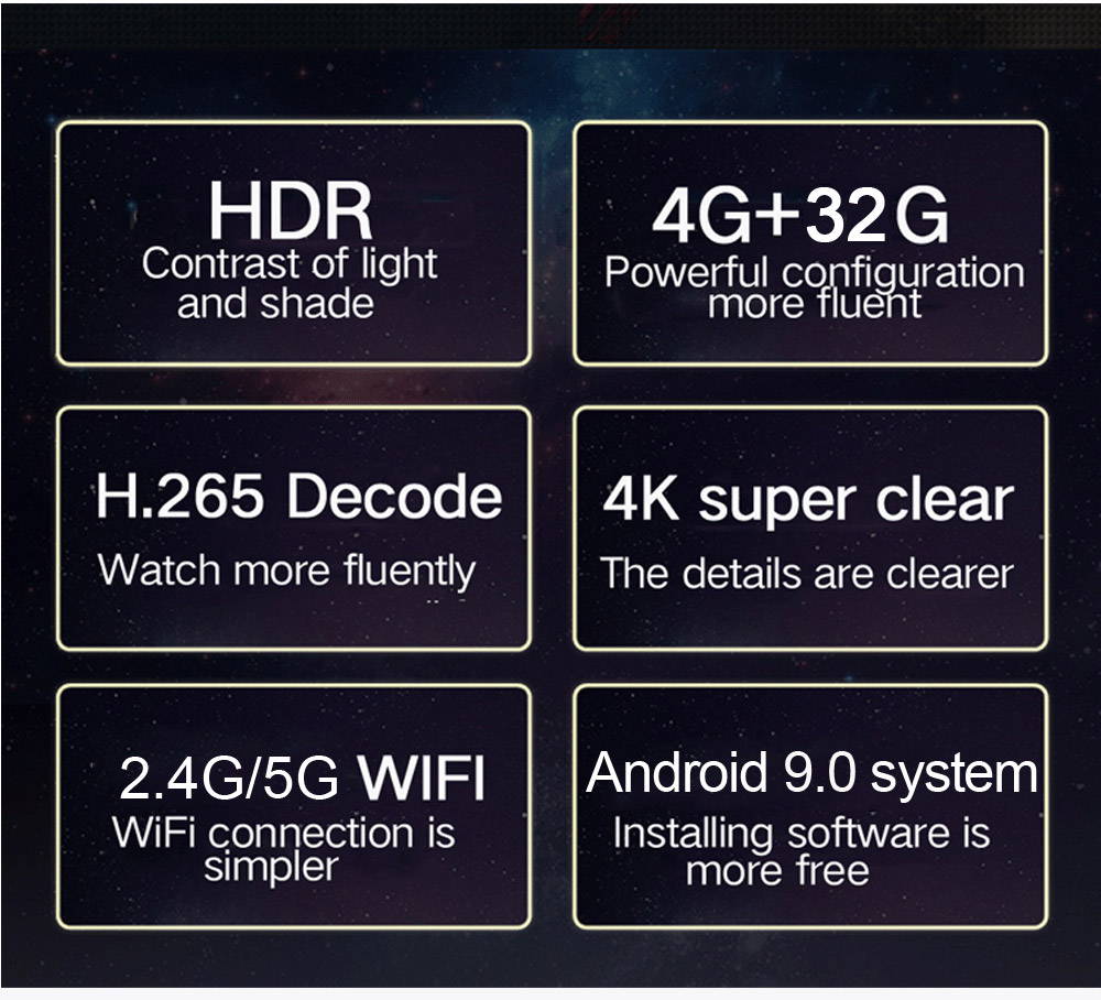 Tinkleo H96 MAX Plus Newest Android 9.0 TV Box 4GB+32GB Smart Android Box H96 MAX+ RK3328 1