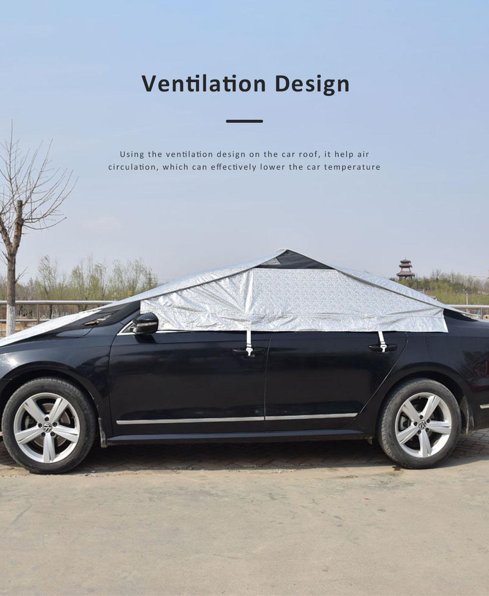 Universal Car Sunshade UV Ray Protector Cooler Umbrella Fabric Sunshade for Cars 2