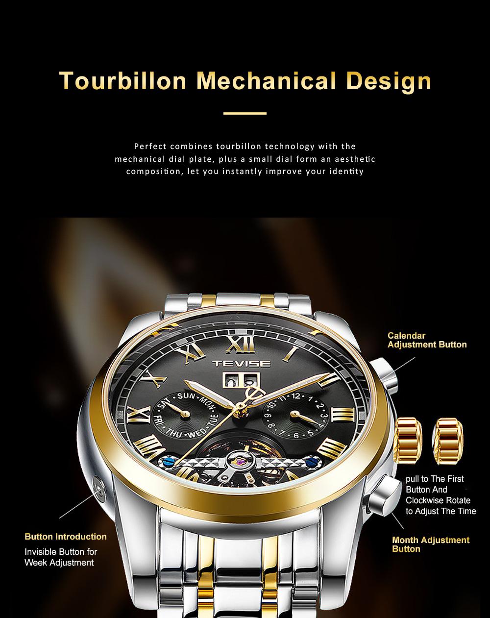 Men's Mechanical Watches Tourbillon Businessman Wrist Watch All Automatic Mechanical Watch  5