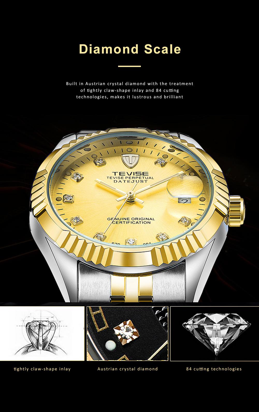 Waterproof Businessman Mechanical Watch with Calendar All Automatic Mechanical Men's Wrist Watch 2019 1
