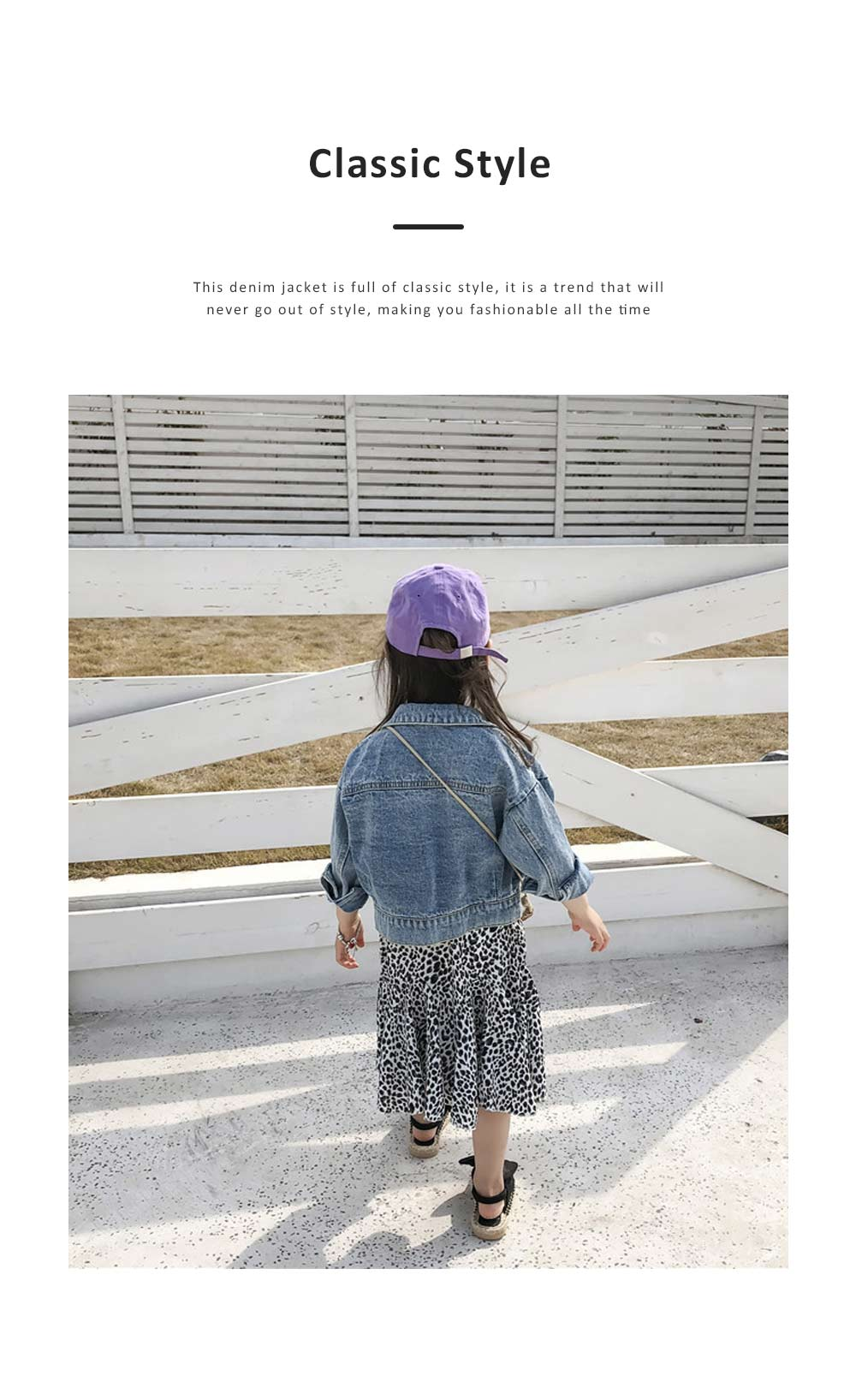 Classic style Denim Jacket Long Sleeve Clothes Fashionable Children Garment with Two Pockets for Girls 1