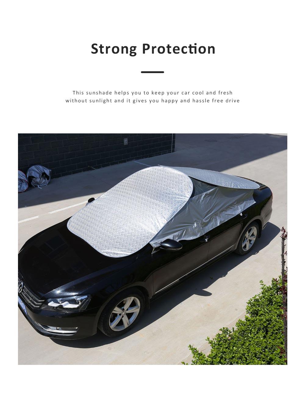 Universal Car Sunshade UV Ray Protector Cooler Umbrella Fabric Sunshade for Cars 1