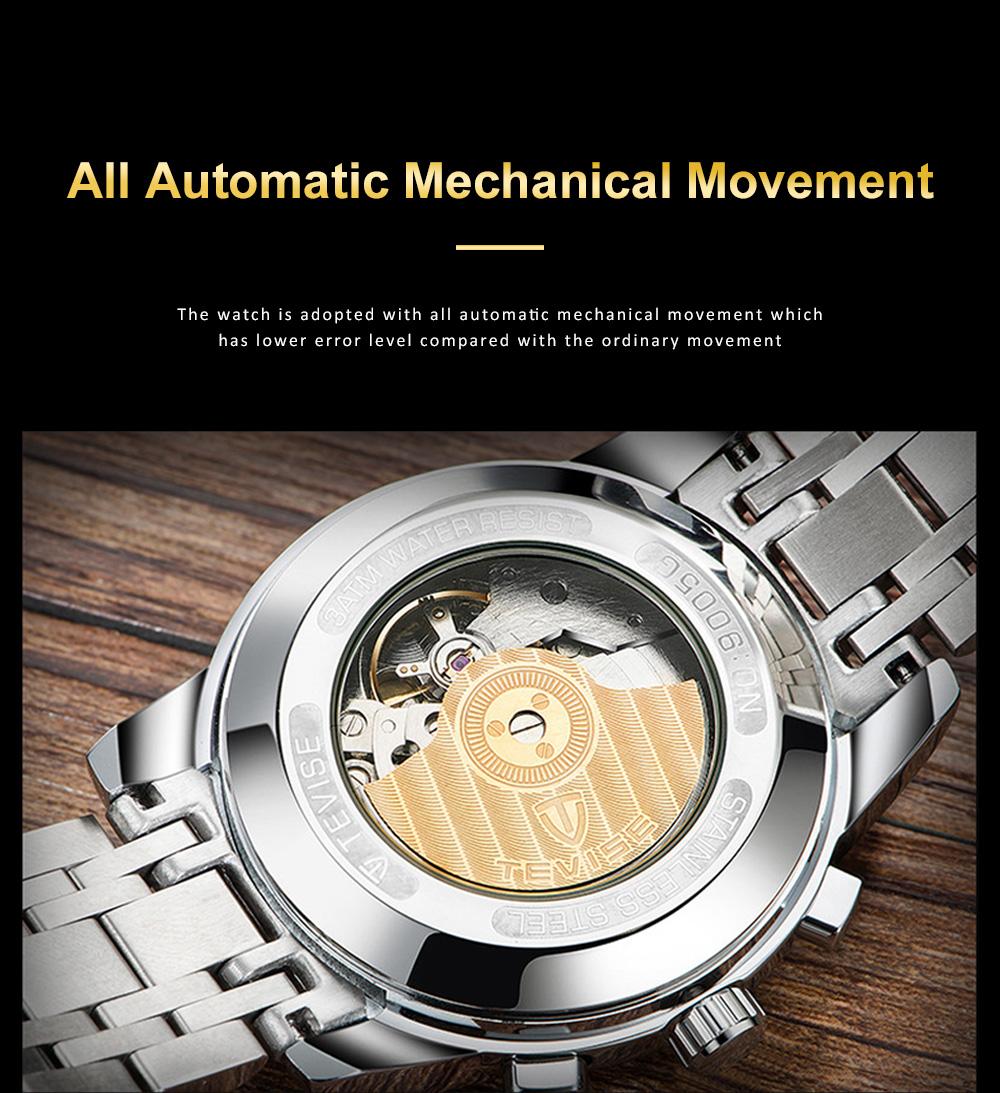 Men's Mechanical Watches Tourbillon Businessman Wrist Watch All Automatic Mechanical Watch  3