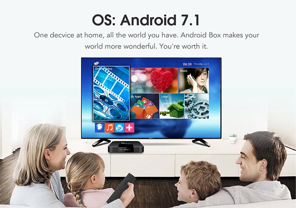 TX3 Mini S905W Android TV Box Smart IPTV Media Player 4K 7.1 Android H2.65 TX3 Mini TV Box 2G 16GB 2