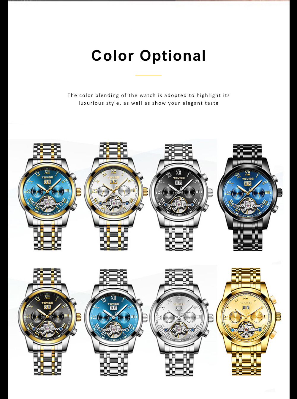 Men's Mechanical Watches Tourbillon Businessman Wrist Watch All Automatic Mechanical Watch  1