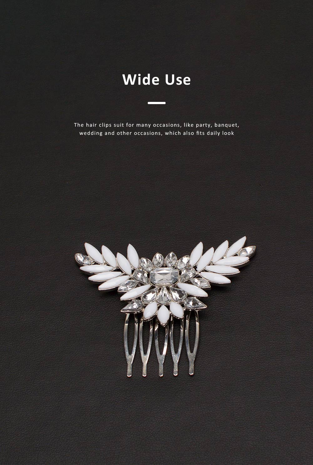 Chic Diamond Alloy Hair Clip Stylish Hair Pin for Women Girls Suitable for Different Hair Styles 2