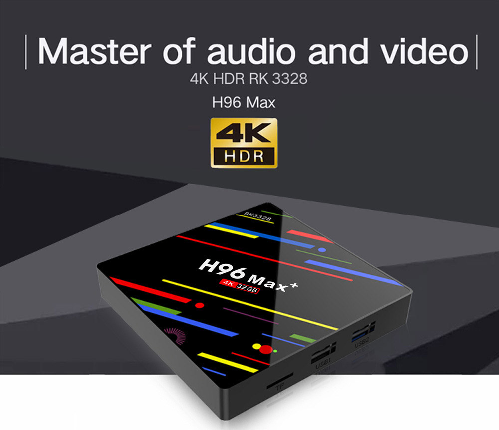 Tinkleo H96 MAX Plus Newest Android 9.0 TV Box 4GB+32GB Smart Android Box H96 MAX+ RK3328 0
