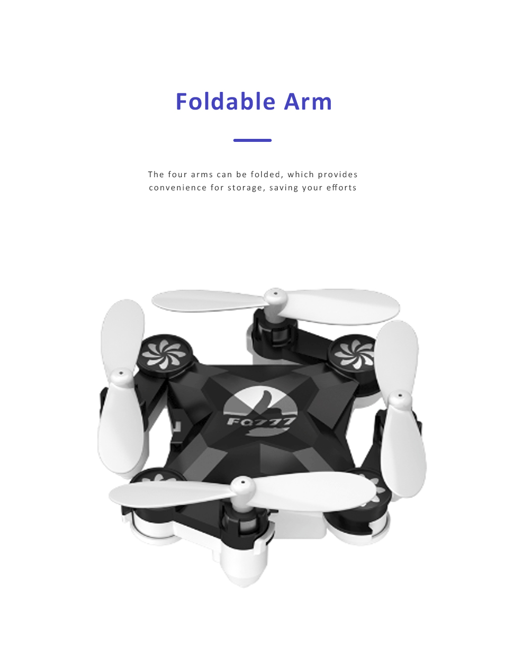 Unmanned Aerial Vehicle Mini Remote Control Foldable Quadcopter Portable 6 Axis Flying Toy 5