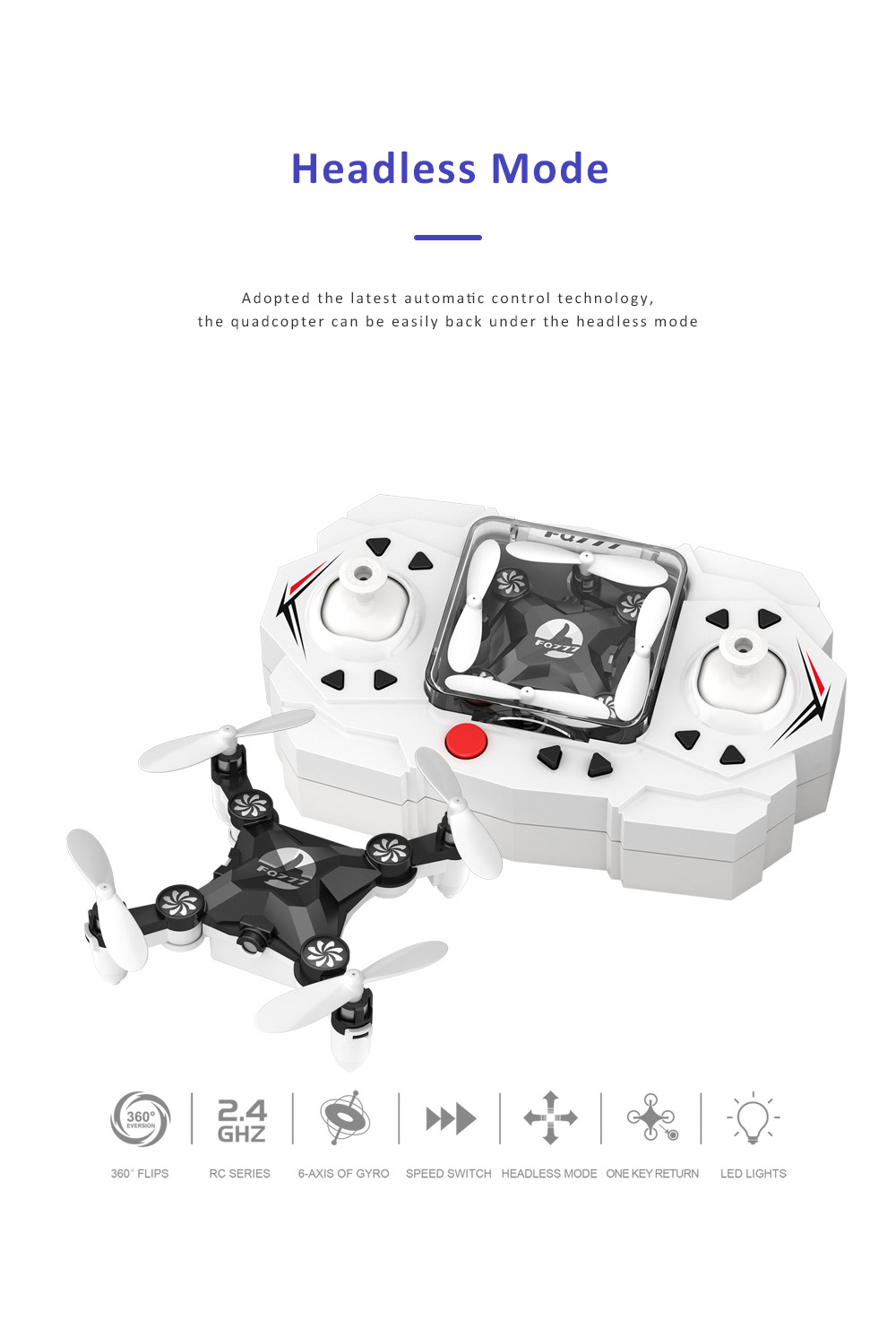 Unmanned Aerial Vehicle Mini Remote Control Foldable Quadcopter Portable 6 Axis Flying Toy 1