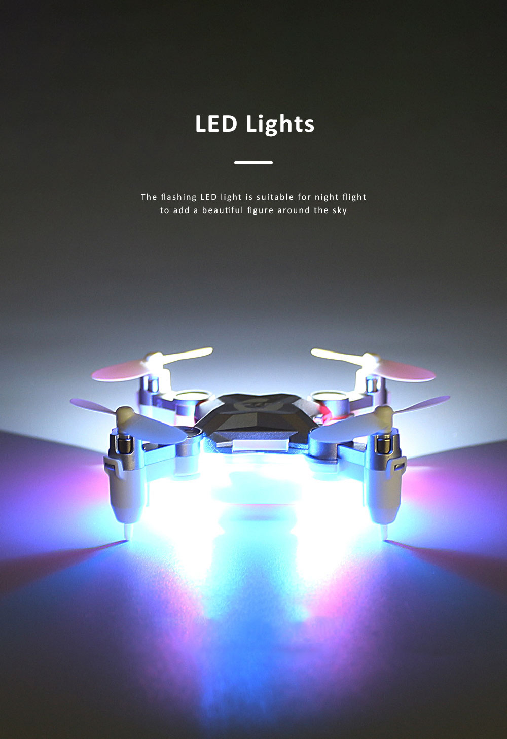 Unmanned Aerial Vehicle Mini Remote Control Foldable Quadcopter Portable 6 Axis Flying Toy 2