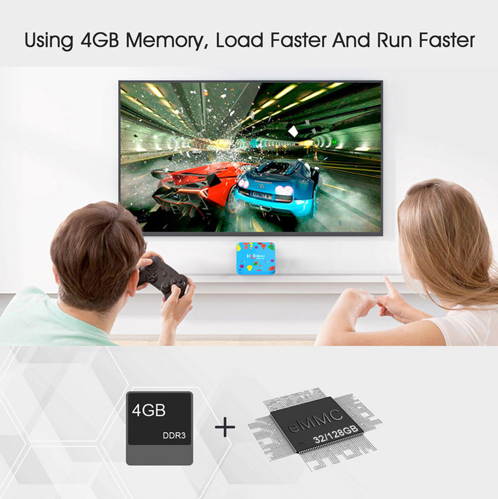 H96 Mini H6 Smart TV Box Android 9.0 4GB 128GB Media Player Bluetooth 4.0 Support 2.4G 5G WiFi 4K HD HDMI Google Player YouTube 4