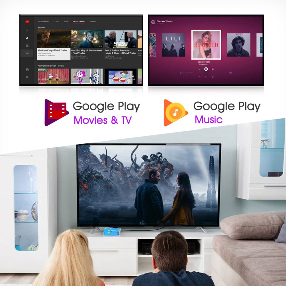 H96 Mini H6 Smart TV Box Android 9.0 4GB 128GB Media Player Bluetooth 4.0 Support 2.4G 5G WiFi 4K HD HDMI Google Player YouTube 3